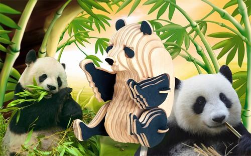 PANDA - DREWNIANE PUZZLE 3D