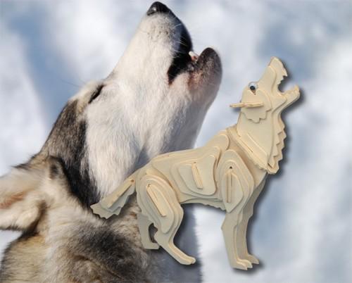 WILK - DREWNIANE PUZZLE 3D