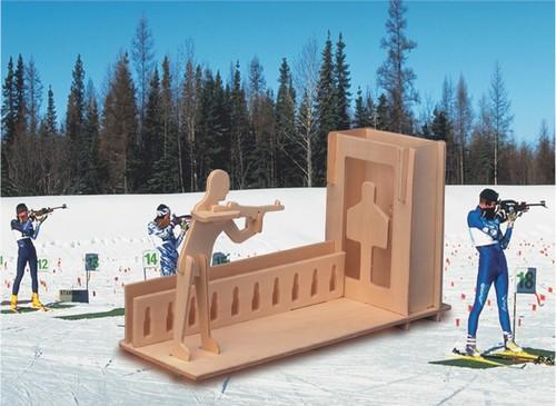 PIÓRNIK STRZELNICA -DREWNIANE PUZZLE 3D