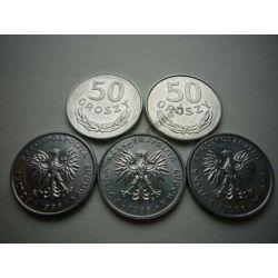 50 gr groszy 1986 mennicze mennicza - TYP A Monety groszowe