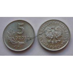 5 gr groszy 1960 mennicza mennicze Monety groszowe