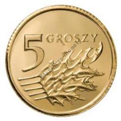 5 gr groszy 2004 mennicza mennicze z woreczka