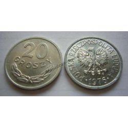 20 gr groszy 1976 mała 6 mennicze mennicza ODMIANA Monety groszowe