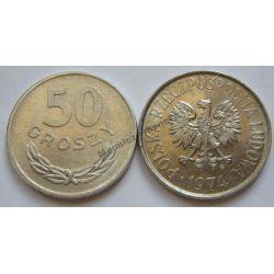 50 gr groszy 1974 mennicza mennicze Monety groszowe