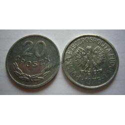 20 gr groszy 1975 mennicza mennicze Monety groszowe