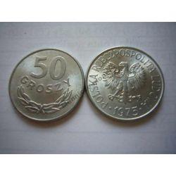 50 gr groszy 1975 mennicza mennicze Monety groszowe