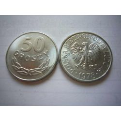 50 gr groszy 1978 bzm mennicze mennicza UNC Monety groszowe