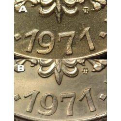 10 zł Kościuszko 1971 mennicza mennicze TYP B UNC
