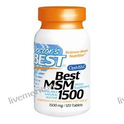Doctor's Best - Best MSM 1500 mg. - 120 Tablets