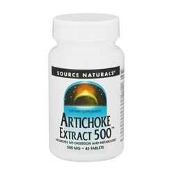 Source Naturals - Artichoke Extract 500 mg. - 45 Tablets