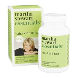 Martha Stewart Essentials - Hair, Skin & Nails Supplement - 60 Vegetarian Capsules LUCKY PRICE