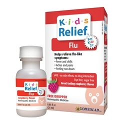 Homeolab USA - Kids Relief Flu Raspberry Flavor - 0.85 oz.