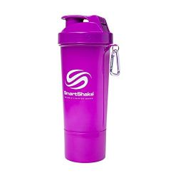 SmartShake 500 ml/18 oz, violett Slim neon, 1er Pack
