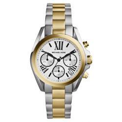 Michael Kors Damen-Armbanduhr Chronograph Quarz Edelstahl MK5912