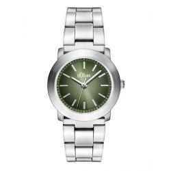 s.Oliver Damen-Armbanduhr XS Analog Quarz Edelstahl SO-2796-MQ