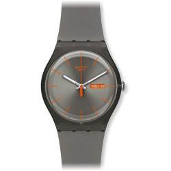 Swatch Damen-Armbanduhr Warm Rebel Analog Quarz Plastik SUOM702