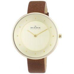 Skagen Damen-Armbanduhr Analog Quarz Leder SKW2138 Biżuteria i Zegarki