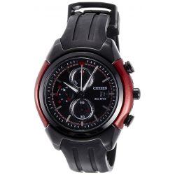 Citizen Dome Herren-Armbanduhr XL Chronograph Resin CA0287-05E Biżuteria i Zegarki