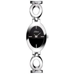 s.Oliver Damen-Armbanduhr XS Analog Quarz Edelstahl SO-2808-MQ Biżuteria i Zegarki