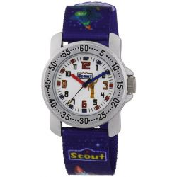 Scout Jungen-Armbanduhr Analog Quarz Textil 280376027 Biżuteria i Zegarki