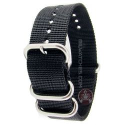 Praetorian® DiverTec Extrem Nato Armband - Taucherarmband schwarz 22mm Biżuteria i Zegarki