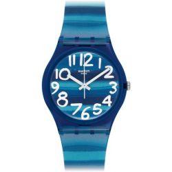 Swatch Unisex-Armbanduhr Linajola Analog Quarz Plastik GN237 Biżuteria i Zegarki