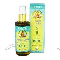 Badger - Calming Baby Oil Chamomile & Calendula - 4 oz.