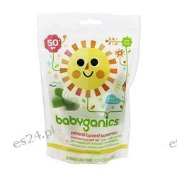 BabyGanics - Sunscreen Mineral Based Single Use Tubes Fragrance Free 50 SPF - 12 Tubes