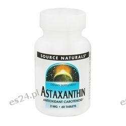 Source Naturals - Astaxanthin Antioxidant Carotenoid 2 mg. - 60 Tablets