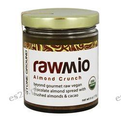 Rawmio - Organic Chocolate Almond Spread with Crushed Almonds & Cacao Almond Crunch - 6 oz.