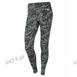 Nike legginsy damskie CLUB LEGGING-AOP, szare