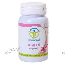 Manako Krill Öl Kapseln - Omega 3 Fettsäuren 60 Kapseln, 1er Pack (1 x 42 g)