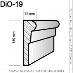 Obramowanie drzwi i okien DIO-19 13x3,5cm element powlekany...
