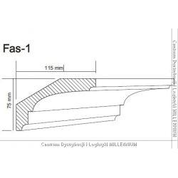 Faseta FAS-1 7,5x11,5cm ze styroduru 1mb...