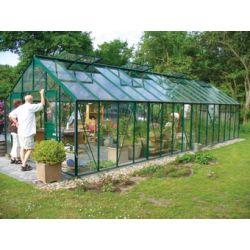 Szklarnia Gardener - Ogrodnik 27 m2 (zielona, 4mm szkło hartowane)...