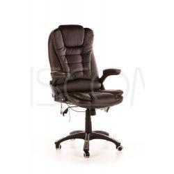 Fotel biurowy Manager z masażem - brązowy...