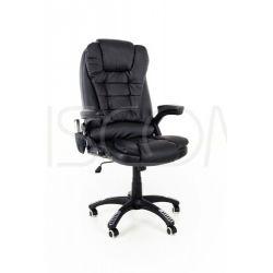 Fotel biurowy Manager z masażem - czarny...