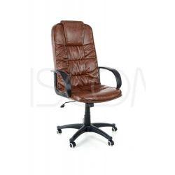 Fotel biurowy Boss skóra - brązowy...