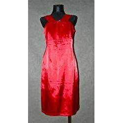 czerwona sukienka, kołnierzyk  (42)