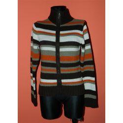 rozpinany sweter w paski (L)