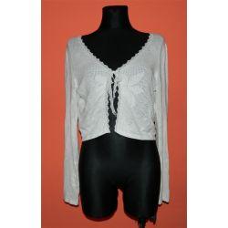ażurowe bolerko krótka bluzka koronka APANGE (XL)