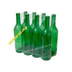Butelka na wino 0,75l zielona -2SZT OKAZJA