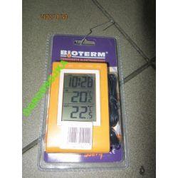 termometr elektroniczny wewnątrz i zewnątrz żółty
