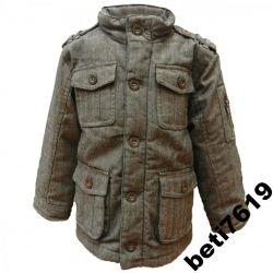 UK markowa OCIEPLANA kurtka 134 PARKA jesień zima