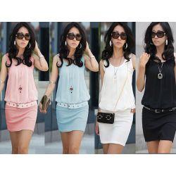 619-22-XL HIT Efektowna Sukienka MINI Sukienki XL