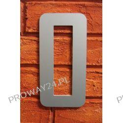 Cyfra 0 Numer na Dom, na elewację, Srebrna Alucobond - 18cm