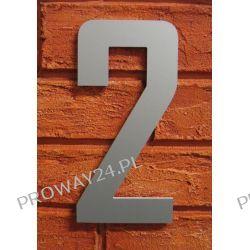 Cyfra 2 Numer na Dom, na elewację, Srebrna Alucobond - 18cm