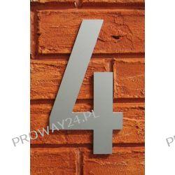 Cyfra 4 Numer na Dom, na elewację, Srebrna Alucobond - 18cm