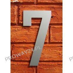 Cyfra 7 Numer na Dom, na elewację, Srebrna Alucobond - 18cm