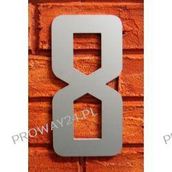 Cyfra 8 Numer na Dom, na elewację, Srebrna Alucobond - 18cm